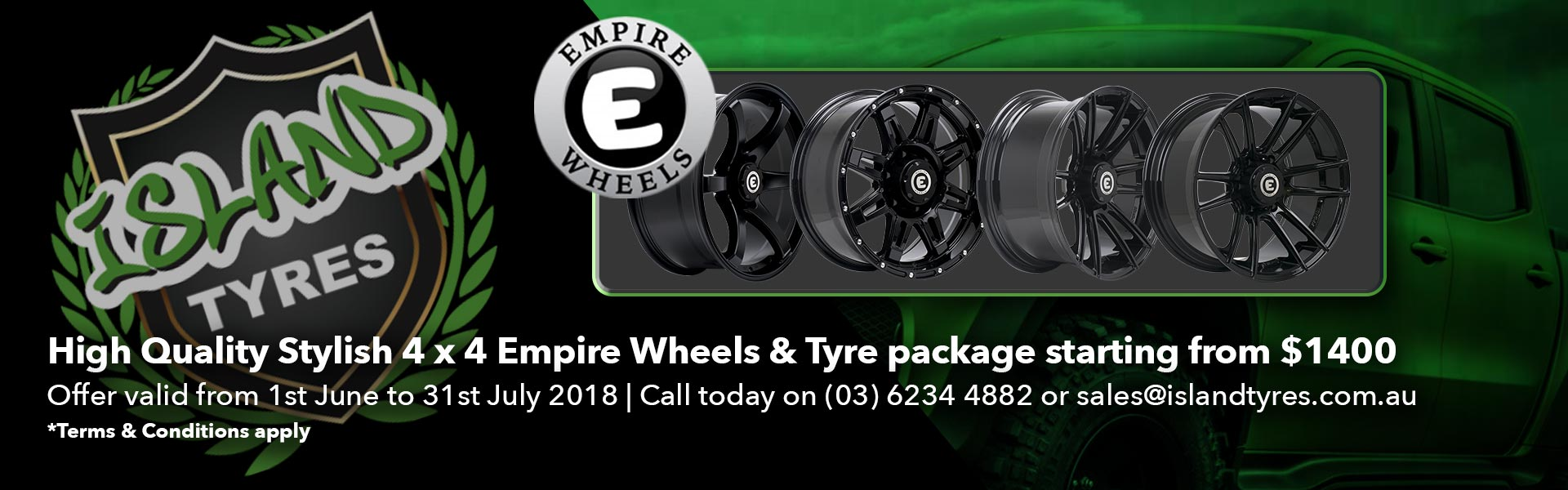 Empire Wheels Package banner